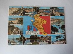 Dep 17 Charente Maritime   Carte Geographique Departement Multivues ' 12 - Cartes Géographiques