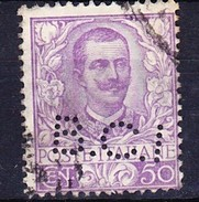 ITALIE 1901 YT N° 72 Obl. PERFORE B.C.I - Usati
