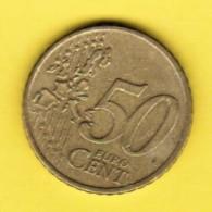 IRELAND  50 EURO CENTS 2002 (KM # 37) - Ireland