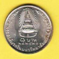 THAILAND  1 BAHT 977 (BE 2520) (Y # 114) - Tailandia