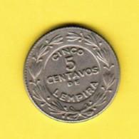 HONDURAS  5 CENTAVOS 1956 (KM # 72.1) - Honduras