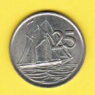 CAYMAN ISLANDS  25 CENTS 1982 (KM # 4) - Cayman Islands
