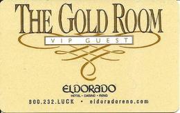 Eldorado Casino - Reno, NV - The Gold Room VIP Guest Key Card (Light Gold) - Hotel Keycards