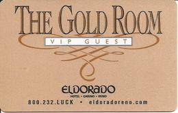 Eldorado Casino - Reno, NV - The Gold Room VIP Guest Key Card (Bronze Colored) - Hotel Keycards