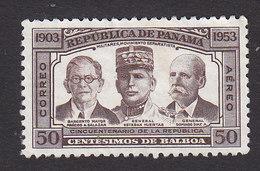 Panama, Scott #C144, Mint No Gum, Salazar, Huertas, Diaz, Issued 1953 - Panama