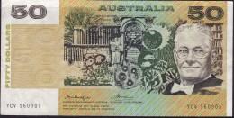 AUSTRALIA $50 Banknote Knight Wheeler YCV 560905 - Decimaal Stelsel Overheidsuitgave 1966-...