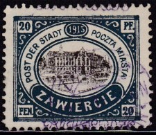 POLAND Zawiercie 1916 Fi 2.I Used With Certificate - ....-1919 Übergangsregierung