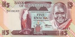 ZAMBIA 5 KWACHA ND (1988) P-25d UNC  [ZM126d] - Zambie