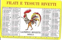 1-FILATI E TESSUTI RIVETTI-1967-CALENDARIO TASCABILE - Calendari