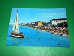 Cartolina Bellaria - Visione Della Spiaggia 1966 - Rimini