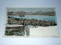 Cartolina Ricordo Di Stresa - Panorama E Collegio Rosmini 1900 Ca - Verbania