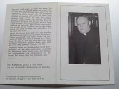 DP Kanunnik Walter POULEYN Kuurne 23 Jan 1907 - 19 Jan 1984 Brugge ( Zie Foto's ) ! - Overlijden