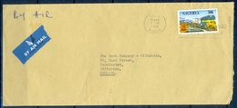 J118- Postal Used Cover. Posted From Nigeria To England. UK. Train. Transport. - Nigeria (1961-...)