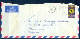 J136- Postal Used Cover. Posted From Nigeria To England. UK. 5th Anniversary. - Nigeria (1961-...)