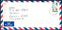 J146-  Inland Postal Used Cover. Flag. Freedom Of The Press. - Nigeria (1961-...)