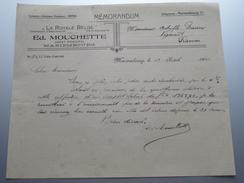 """Ed. MOUCHETTE Agent Mariembourg """" La Royale Belge """" ( Mémorandum ) > Gravier Frasnes 1930 ! - Belgique"""