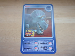 Carte Disney AUCHAN Dinosaure Trixie Tricératops TOY STORY - Other Collections