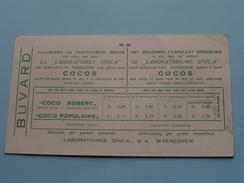 """Les """" LABORATOIRES UNICA """" WAEREGHEM """" COCOS ( Voorheen Robberecht & Cie ) Zie Foto's Voor Détail ! BUVARD ! - Buvards, Protège-cahiers Illustrés"""