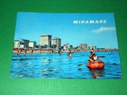 Cartolina Miramare Di Rimini - Alberghi E Spiaggia Visti Dal Mare 1965 Ca - Rimini