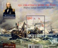 Slovenia - 2016 - 150th Anniversary Of Battle Of Lissa - Mint Souvenir Sheet - Slovénie