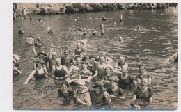 1911 REAL PHOTO, K. JELUSSICH, Fiume-Abbazia,beach, Group Of People In The Sea, Bathers, Baigneurs,  Old  Photo ORIGINAL - Personnes Anonymes