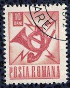 Roumanie Oblitéré Used Corne Postale Postes Et Télécommunications - Télégraphes