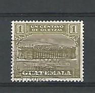 1926 EDIEICIO DE CORREOS Y TELEGRAFOS NACIONALES 1 CENTAVO DOS CHARNIERE OBLITERE - Guatemala