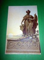 Cartolina Militaria - Scuola Di Guerra - Sculp. Rubino 1920 Ca - Régiments