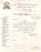 Document Du 21/12/1914 THE HUDSONS' BAY COMPANY - Victoria - USA Etats-Unis - Scans Recto-verso - Etats-Unis
