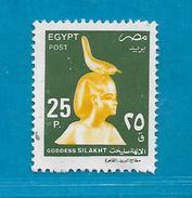 1999 EGITTO EGYPT FRANCOBOLLO USATO STAMP USED - DEFINITIVA DIVINITA' 25 P - Egypt