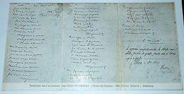 Cartolina Fototipia Dell' Autografo Dell' Inno Di Mameli (Museo Del Verbano) '20 - Verbania