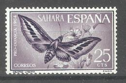 Spanish Sahara 1964,Butterflies Moth,Sc 142,VF Mint Hinged* - Sahara Espagnol