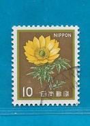 1982 GIAPPONE NIPPON FRANCOBOLLO USATO STAMP USED -  ORDINARIO FLORA FIORI 10 - 1926-89 Emperor Hirohito (Showa Era)