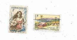 Timbre , POLYNESIE FRANCAISE , LOT DE 2 TIMBRES - Autres