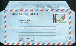 NOUVELLE CALEDONIE - AEROGRAMME N° 11A * * - REGATES - LUXE & RARE - Luftpost