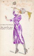 V9975 Cpa Erotisme - La Fleur Et Le Papillon - Illustrateur Non Signé - Drawings