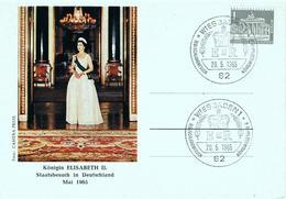 Germany ,  Allemagne ,  1965 , FDC , Elisabeth II , Wiesbaden Postmark - Familles Royales