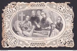 """Ancien Canivet Image Pieuse """"Mort Du Curé D'Ars"""" Bernasconie / Cours De Brosses - Religion & Esotérisme"""