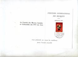 Carte De Voeux Fdc 1972 Bouquet Fleurs - FDC