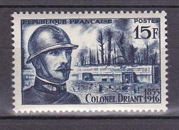 N° 1052 40ème Anniversaire De La Mort Du Colone EmileA.C.Driant: Timbre Neuf Impeccable Sans Charnière - Ongebruikt