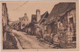 24 Domme  Une Rue Escarpee Aux Logis Rustiques Enguirlandee De Pampres - Francia