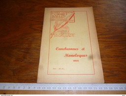 CB2  Wallon Tournaisien Cancheonnes Et Monoloques 1955 - Libros, Revistas, Cómics