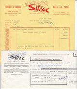 Sirac ,appats Pour La Pêche,à Saint-Pourçain -sur - Sioule , Allier , Facture + Traite,1962 - France