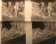 18 Plaques Photos (10,5 X 4,5 Cm) (certains Clichés Concernent Soldats & Avions, Sans Doute 1914) Le Tout Dans Boite Uni - Diapositiva Su Vetro