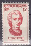 N° 1084  Série Personnages Etrangers Ayant Participé à La Vie Française: Rousseau: Timbre Neuf Impeccable Sans Charnière - France
