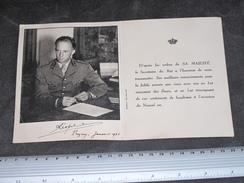LEOPOLD III DE BELGIQUE - LETTRE DE VOEUX DE L'AN - PREGNY JANVIER 1946 - Documents Historiques