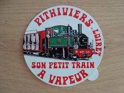 AUTOCOLLANT PITHIVIERS LOIRET SON PETIT TRAIN A VAPEUR - Stickers