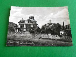 Cartolina Breno - Villa Gheza E Il Castello 1950 Ca - Brescia