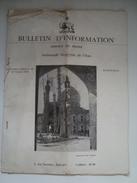 AMBASSADE IMPÉRIALE DE L'IRAN. BULLETIN D'INFORMATION. SERVICE DE PRESSE, IRAN 1954. 21 PAGES & MAP. - History