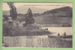 LES MARCHES : Le Lac De Saint André (barque), L'Ile. 2 Scans. Edition Grimal - Frankreich